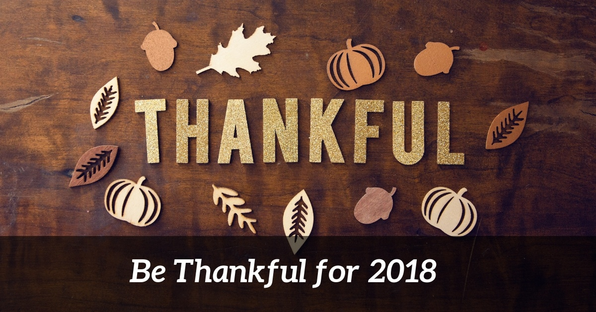 Thankful for 2018